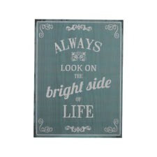 """Premier Wooden Plaque Sign with """"Look At The Bright Side"""" Home Décor Wall Art"""