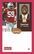 TYQUAN LEWIS 2018 REESE'S SENIOR BOWL RC OSU OHIO STATE BUCKEYES ROOKIE CARD