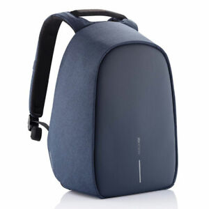 XD Design Bobby Hero Small Anti Theft Laptop Backpack with USB Port, Navy Blue