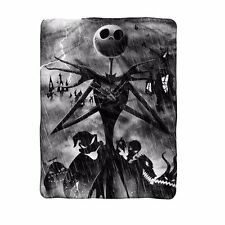 The Nightmare Before Christmas Stormy Jack Fleece Blanket Licensed 02863561 New