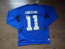 Sweden #11 Larsson 100% Original Soccer Jersey Shirt L 2005/06 Away BNWT Rare