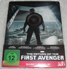 Captain America 2 The Return of the First Avenger 3D 2D Blu-Ray Steelbook NEU