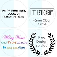 CLEAR Stickers Personalised Favor Favours labels Party Gift seals glossy x50