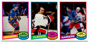 1980-81 Topps Vault ROB RAMAGE BILLY SMITH RON DUGUAY 1/1 Blank Back Uncut Strip