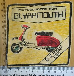 Scooter Rally Patch 1987 Gt Yarmouth Original