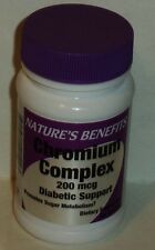 1 Bottle Nature's Benefits Chromium Complex 200 mcg 50 Tabs Serving Size 1 Tab