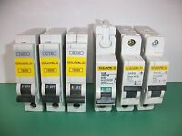 Square D MCB Circuit Breaker - (Several Sizes 6A 10A 16A 20A 32A 40A 50A)