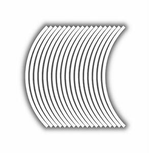 9mm wheel rim tape striping stripes stickers WHITE..(38 pieces/9 per wheel)