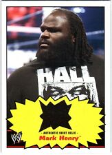 WWE Mark Henry 2012 Topps Heritage Authentic Event Worn Shirt Relic Card Black