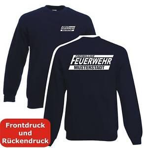 Feuerwehr Sweatshirt Pullover mit Ortsname Reflex O17