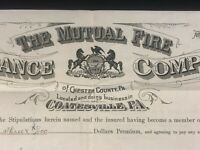 Coatsville PA Israel Morris Radnor PA - Fire Insurance Company Document