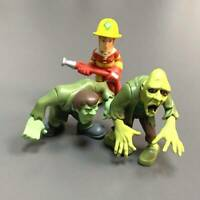 Lot 3 Scooby-Doo Scooby doo Zombie Creeper Monster fireman 2.5'' Figure Toys