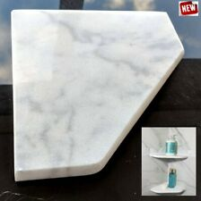 "8"" Marble Shower Corner Shelf (Bianco Ibiza XD) Stone Bathroom Caddy Soap Dish"