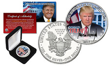 DONALD TRUMP 45th President OFFICIAL PORTRAIT 2017 1 oz. U.S. SILVER EAGLE w/BOX