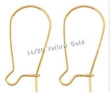 14k Gold Filled Ear Wires Kidney Ear Hooks Posts Earwires Gold Earrings