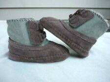 UGG Baby Booties sz.2/3 - Suede Infants Kids Shearling Shoes Boots Warm