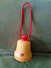 Vintage Reuge Wooden Music Box Bell, Mozart Lullaby, Pull Cord