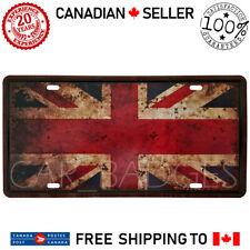 England Flag Vintage Car License Plate Tag Metal Tin Sign Garage Bar Decor