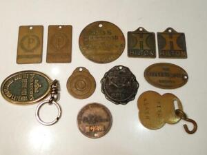 Collection of Vintage Hotel Room Key Fobs - Seagull Miami, Hilton, Palmer ++