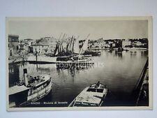 ANZIO Riviera Levante barca vela piroscafo Roma vecchia cartolina