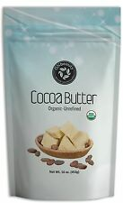Organic Cocoa Butter - 16oz, USDA, 100% Organic, FOOD GRADE, Raw, Unrefined