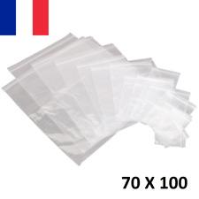 100X Sachet Zip Plastique 70x100mm 7x10cm Transparent Pochon Pochette 50u