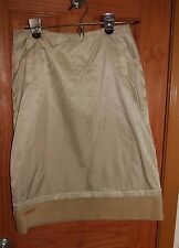 Beautiful warm fleece winter skirt Weekend by Etam 165/66A US2 yellow khaki