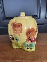 Vintage Antique PETER, PETER PUMPKIN EATER Cookie Jar Roseville #1502  RRP Co