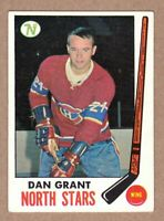 1969-70 Topps #125 Dan Grant Minnesota North Stars EX-MT condition