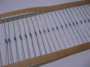 Lot of 200 1000 Ohm 1/8 Watt 1% Metal Film Resistors 1K - NOS