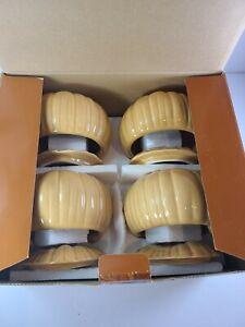 Williams-Sonoma Pumpkin Soup Tureen, Individual Lidded Bowls, Harvest Autumn S/4
