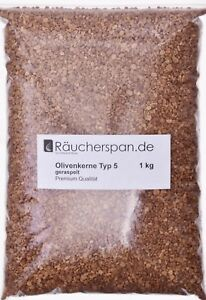 Olivenkerne . Räuchern  Typ 5  Premiumqualität f. Borniak Räucherofen geeignet