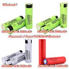 Panasonic Sanyo 18650 Flat Top 2900~3500mAh Rechargeable Battery Box Wholesale