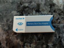 SanDisk 20-90-00125 Memory Stick Duo Card Sony Stick adapter - Free Shipping!