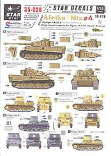 Star Decals 1/35 GERMAN AFRIKA MIX #4 Black Turret Numbers for Tiger I Tanks