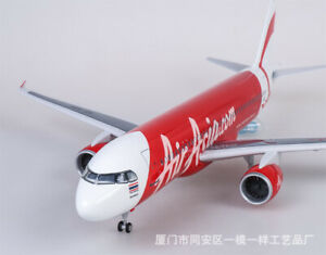 1/80 Air Asia.com A320neo Airplane Model LED Voice Lamp Passanger Plane 47CM Toy