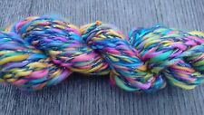 Fifilabonk CASHMERE MIX  CHUNKY YARN HAND SPUN & HAND DYED 29g total64yd