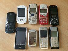 JOBLOT de teléfonos móviles 9x Vintage Nokia 8210 1600 Samsung Alcatel Sin Probar