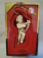 LENOX 2001 Annual Winter Greetings Ornament Cherub with Harp NIB NEW