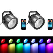 2STK 10W COB LED RGB UV Par Bühnenbeleuchtung DMX Fernbedienung Disco KTV Party