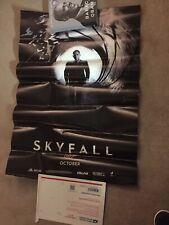 Daniel Craig Signed Skyfall Poster