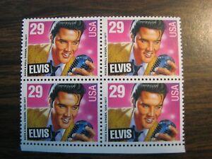 ELVIS PRESLEY (1992) - Mint Sheet of 4 - 29 cent U.S. Postage Stamps