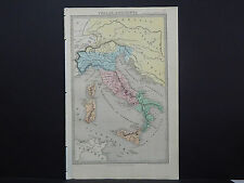 Antique Map 1845 Italie, Ancienne (Ancient Italy) R7#62
