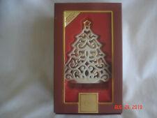 New Boxed Lenox Bright Christmas Tree Votive Pierced Tree with Gold Trim #760569
