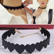 1 Pc Love Heart Choker Simple Design Collar Necklace Fashion Jewelry Decoration