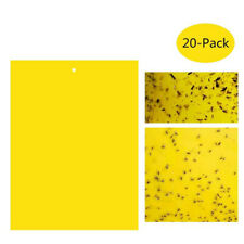 20PCS Dual-Sided Yellow Sticky Traps Sticky Fly Killer for Flying Insect