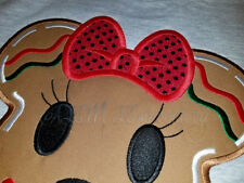 Gingerbread Girl Vacation Shirt Embroidered READY to SHIP
