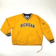 VINTAGE Champion University Of Michigan Wolverines Jacket Pullover Windbreaker