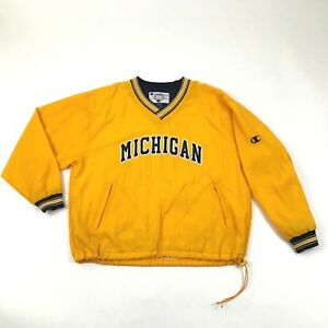 VINTAGE Champion University Of Michigan Wolverines Jacket Pullover Windbreaker
