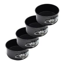 """Black Round Carbon Steel 4"""" Mini Baking Pan Nonstick Leakproof for Cheese Cakes"""